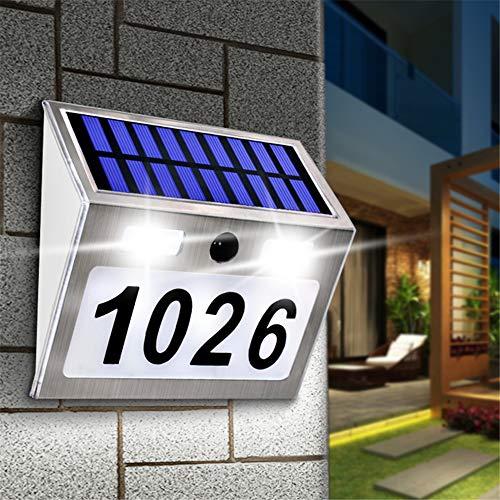 YLE Número de casa Solar para iluminar la Placa con 200LM Sensor de Movimiento Luces LED Dirección Número de Inicio Puerta del jardín Solar de la lámpara de iluminación