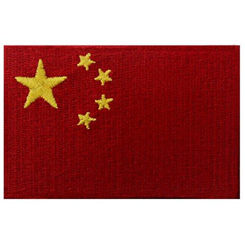 Volksrepublik China Flagge Chinesisches Nationales Emblem Bestickter Aufnäher zum Aufbügeln/Annähen