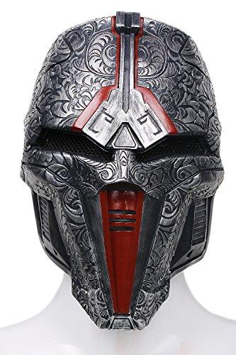 Xcoser Halloween Maske Cosplay Herren Erwachsene Einstellbare Dunkelgraue Harz Gesicht Helm Kostüm Prop Neue Version