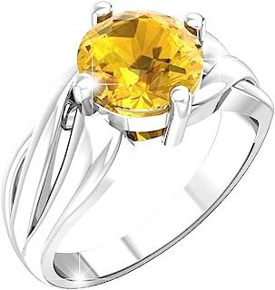 Belinda Jewelz 925 Sterling Silver Band Round Gemstone Womens Jewelry Ring