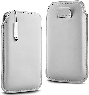 N4U Accessories White Premium Pu Leather Pull Flip Tab Case Cover Pouch & High Sensitive Mini Stylus Pen For Blackberry 9900 Bold Touch
