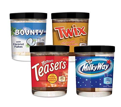 Maltesers Teasers, Twix,Bounty & Milky Way Brotaufstrich-Set 200g