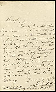 Benjamin Franklin Butler - Autograph Letter Signed 01/28/1835
