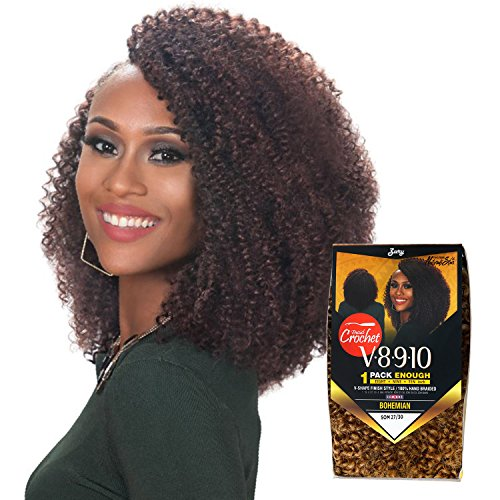 Price comparison product image Royal Zury Synthetic Hair Crochet Braids V8.9.10 Bohemian 1Pack Enough (1)