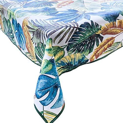 FALA BRAND Tovaglia Plastificata Rettangolare 2a Generazione Tessuto Antimacchia Impermeabile in PVC Bordino Design Fantasia Colorata Cucina Tavoli Esterno Giardino Feste Compleanno Shabby Home