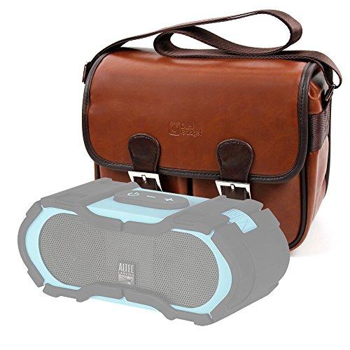 DURAGADGET Bolsa Profesional marrón con Compartimentos para Altavoz Portátil Altec Lansing Boom...