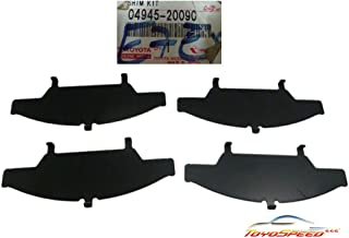 SHIM KIT, ANTI SQUEAL, FRONT FIT FOR TOYOTA CELICA 93-99 OEM GENUINE 04945-20090