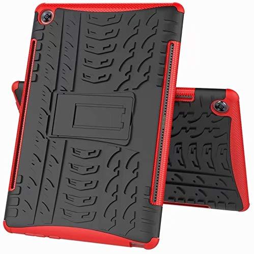 FaLiAng Huawei MediaPad M5 10.8/M5 10.8 Pro Funda, 2in1 Armadura Combinación A Prueba de Choques Heavy Duty Escudo Cáscara Dura para Huawei MediaPad M5 10.8/M5 10.8 Pro (Rojo)