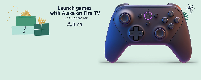 Launch games with Alexa on Fire TV. Luna Controller. Luna.