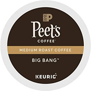 Peet's Coffee, Big Bang, Medium Roast, K-Cup, Single Cup Coffee Pods, Brilliant, Bright Blend of Ethiopian Super Natural, Medium Bodied & Fruity; for All Keurig K-Cup Brewers (66 Count)