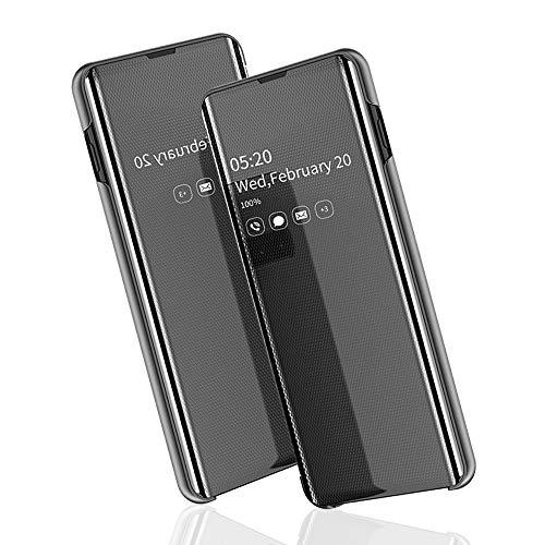 Brand Set hoes Huawei Mate 20 Pro mobiele telefoon spiegel Smart Cover dubbele hoes bescherming raam ultradun met standaard functie geschikt voor Huawei Mate 20 Pro, Huawei Mate 20 Pro, Blanco Y Gris