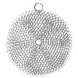 Limpiador redondo de hierro fundido de 4x4 pulgadas Depurador de cota de malla de acero inoxidable con anillo de esquina Depurador antioxidante de metal para sartén olla