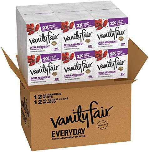 Vanity Fair Everyday Extra Absorbent Premium Paper Napkin 960 Count Dinner Napkin for Messy product image