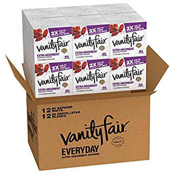 Vanity Fair Everyday Extra Absorbent Premium Paper Napkin 960 Count Dinner Napkin for Messy Meals