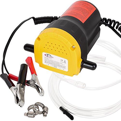 TecTake Pompe éléctrique à vidange extraction huile diesel aspiration kit auto 12V 60W