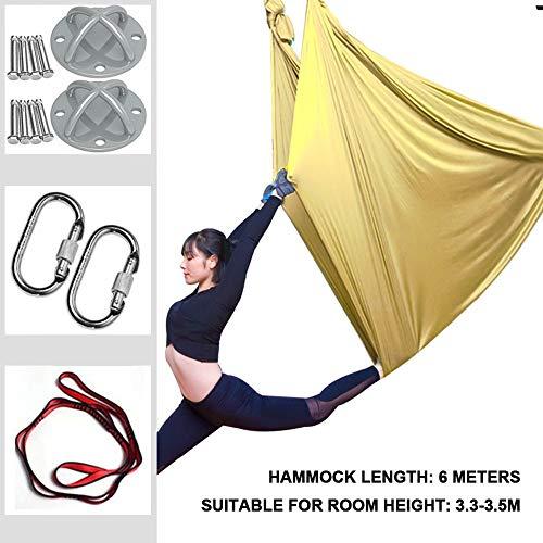 Aerial Yoga Amaca Amaca di Yoga Anti-gravità Swing, Accessori di Montaggio Inclusi, per per Danza Aerea Aerial Amaca Oscillante per Aerial Yoga con carico di 400 kg