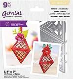 Crafter's Companion Gemini Mini monedero y caja 3D de corte de metal troquelado, tamaño único, color plateado
