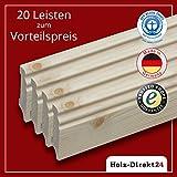 20 Stk / 48 m Fußleisten Hamburger Profil Fichte 2400 x 18 x 70 mm - Vorteilspack 2,00€/m - 17% Rabatt