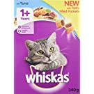 whiskas 1+ Dry Cat Food for Adult Cats with Tuna, 6 Bags (6 x 340 g)