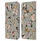 Head Case Designs Licenciado Oficialmente Ninola Mariposas Oro Verde Floral 2 Carcasa de Cuero Tipo Libro Compatible con Apple iPhone 6 / iPhone 6s