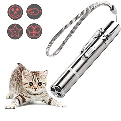 ODOORACT LED Pointer Katzen Hund Spielzeug, LED Pointer für Katzen Stift lustige, Haustier LED Light Licht Pointer für interaktives Spielzeug für Haustiere (Lila Licht)