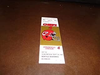 1985 SEATTLE SEAHAWKS AT KANSAS CITY CHIEFS FOOTBALL FULL TICKET NR MINT