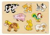 Goki Puzzle à Encastrements, Bébés Animaux