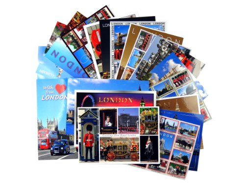 Postkarten London - Eine Auswahl von ca. 20 London mit verschiedenen Ansichten beliebter Sehenswürdigkeiten und Symbole