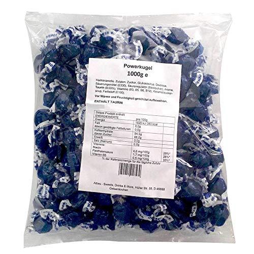 Atties Power Kugel Energy Bonbons Taurin 1kg Beutel (ca. 150 Stück)