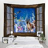 KHKJ Carnaval Fuera de la Ventana, tapices de Pared del árbol de Navidad del Artista, Adornos de Pared A1 200x150cm