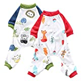 Oncpcare - Pijama para perro, 2 unidades, algodón suave, acogedora y...
