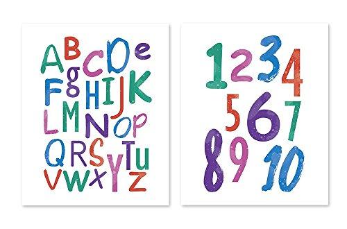 PlatiesStore PGbureau ABC English Alphabet Poster for Kids Watercolor Wall Art Prints Decor Paper (8x10)