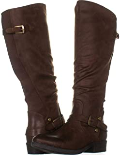 Womens Yanessa Almond Toe Knee High Fashion, Brush Brown, Size 10.0
