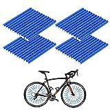Wishstar Speichenreflektoren Fahrrad, Fahrrad Reflektoren, Speichen Reflektor, 48 Stück Reflektoren Fahrradspeichen, 360° Fahrrad Reflektor, Fahrradreflektoren Speiche (Blau)