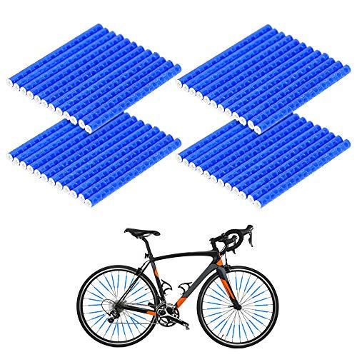 Wishstar Réflecteurs sur Rayons de vélo, Reflecteur Rayon Velo, Lot de 48 reflecteur Velo, Lumiere Rayon Velo, Convient à Tous Les Rayons de vélo Standard(Bleu)