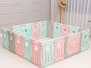 BUCKLAND Baby Playpen Kids Infant Play Yard Toddler Fence (Premium 16+2 Panel Set)