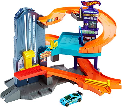 Hot Wheels Toy Parking Garage Playset with Car