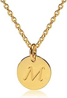 Initial Necklace Silver/Gold Tone 0.4
