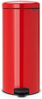 comprar comparacion Brabantia Bin Newicon-Cubo de Basura con Pedal, 30 l, Color Passion Red, Acero Inoxidable, Rojo pasión