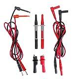 RanDal Kit Di Puntali Per Tester Multimetro Elettronico Con Set Di Sonde Per Ganci A Pisto...