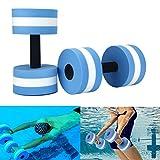 lembeauty - set di 2 manubri per esercizi in acqua - in schiuma - per yoga, fitness, bodybuilding - manubri galleggianti