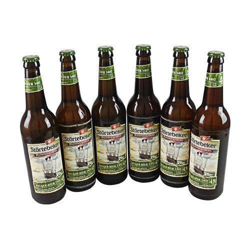 Störtebeker BIO Keller Bier 1402 (6 Flaschen à 0,5 l / 4,8% vol.)
