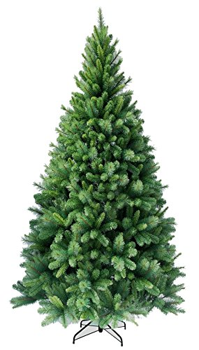 amieli \'X-Mix\' Weihnachtsbaum künstlich 240 cm (Ø ca. 137 cm) mit 1560 Spitzen, schnellaufbau Klappsystem, schwer entflammbar, unechter Tannenbaum inkl. Christbaum Ständer aus Metall