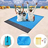 "Sand Free Beach Blanket, Large Oversized Waterproof Quick Drying Ripstop Nylon Outdoor Beach Mat Best Sand Proof Beach Mat for Travel, Camping, Hiking and Music Festivals(82""X79"")"