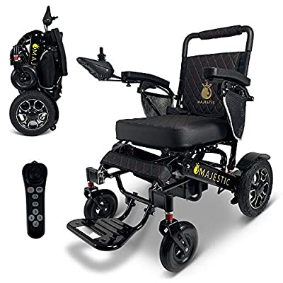 """2021 New Folding Ultra Lightweight Electric Power Wheelchair, Silla de Ruedas Electrica, Airline Approved and Air Travel Allowed, Heavy Duty, Mobility Motorized, Portable Power (19.5"""" Seat Width) by SHENZHEN CHITADO TECHNOLOGY CO LTD"""