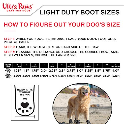 Ultra Paws Light Duty Water Resistant Dog Boots
