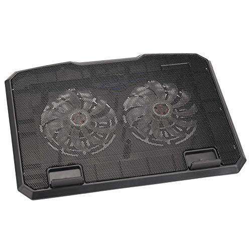 Mogzank Ventilador Dual levantado del Ordenador portatil del disipador Termico del Ordenador portatil de la Fan del Multi-Angulo