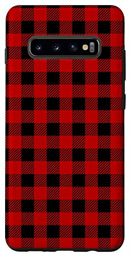 Galaxy S10+ Red Buffalo Checkerboard Cool Gingham Checkered Lover Gift Case