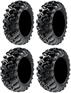 Full set of GBC Grim Reaper Radial (8ply) 27x9-14 and 27x11-14 ATV Tires (4)