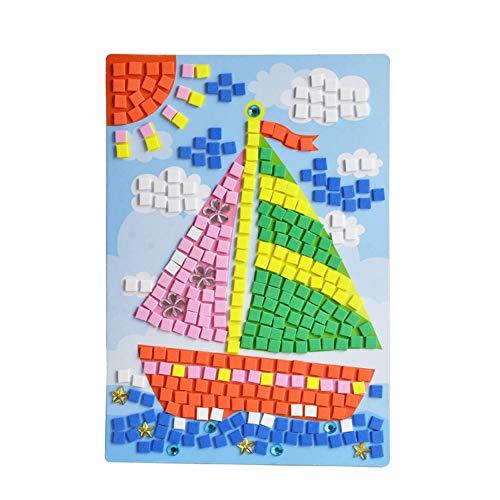 Kalaokei Kids 3D EVA Foam Mosaic Painting Sticker Lovely Cartoon Animal Car Puzzle Craft HN0005B